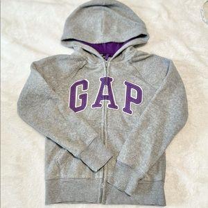 Girl's GAP Logo Fleece Hoodie Jacket